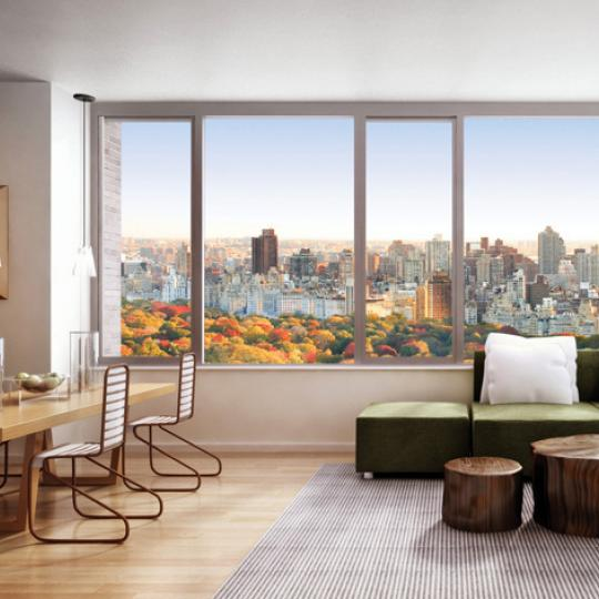 322 West 57th Street Condominium - Living Room in The Sheffield