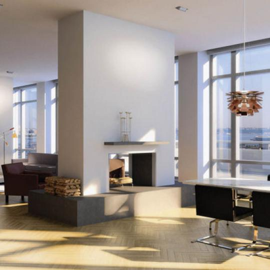 Living Room- 330 Spring Street- nyc condos for sale