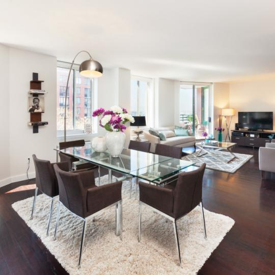 One Rector Park Dining Area - New Condos for Sale NYC