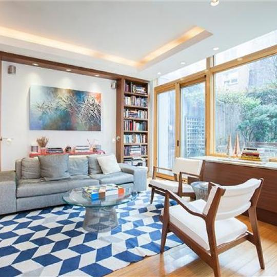 Living Room at 344 West 23rd Street in Chelsea