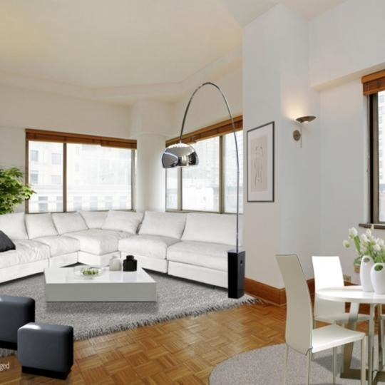 Worldwide Plaza - living area - NYC condos for Sale