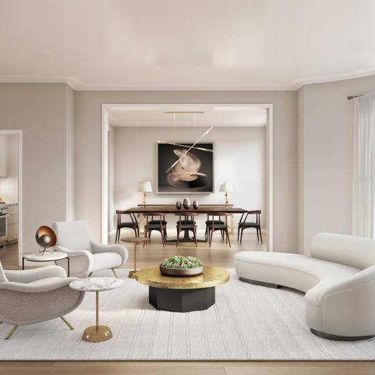 Apartments for sale at 350 West 71st Street in NYC - Living Room