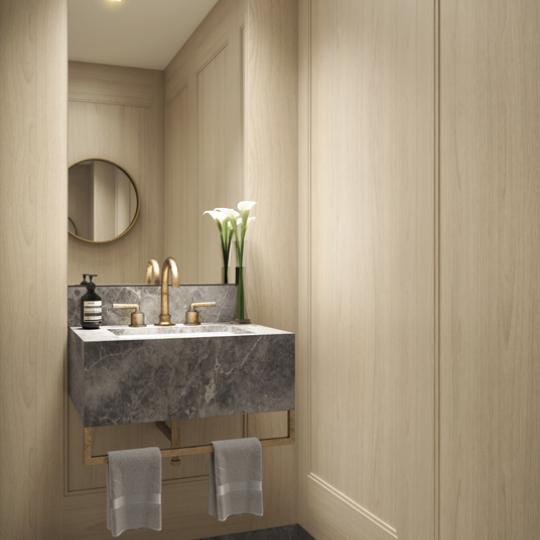 Powder Room at 350 West 71st Street in Upper West Side - Apartments for sale