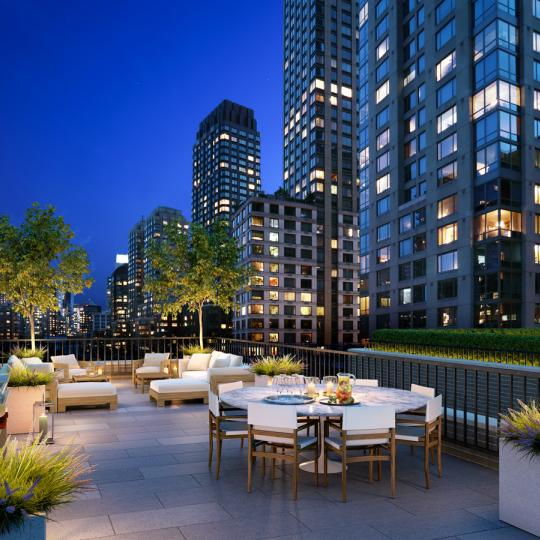 Terrace at 350 West 71st Street in Upper West Side -  Apartments for sale