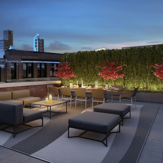 Roof Terrace at The Schumacher- Apartments for sale in Noho