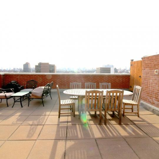 Rooftop Deck at The Lenox Condominium in Manhattan