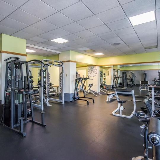 Fitness Center at 380 Rector Place in NYC - Apartments for sale