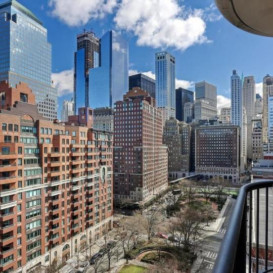 Apartments for sale 380 Rector Place in NYC - View from the balcony