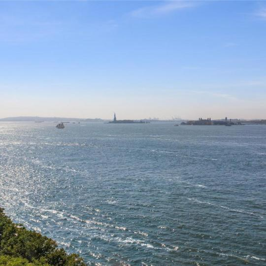 Stunning view from 380 Rector Place in Battery Park City