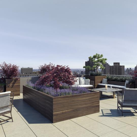 Wide variety of amenites at Post Toscana in Manhattan - Rooftop Deck