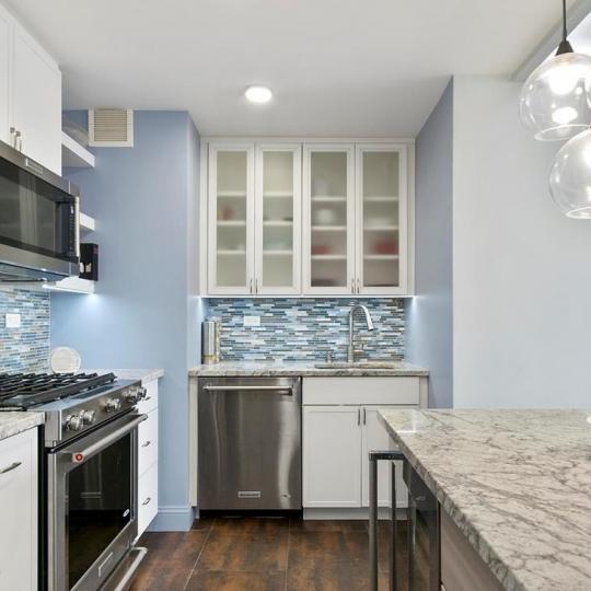 Open Kitchen at Hampton House in Manhattan