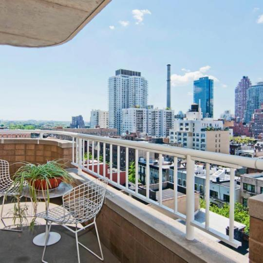 Private Terrace at Hampton House in Upper East Side