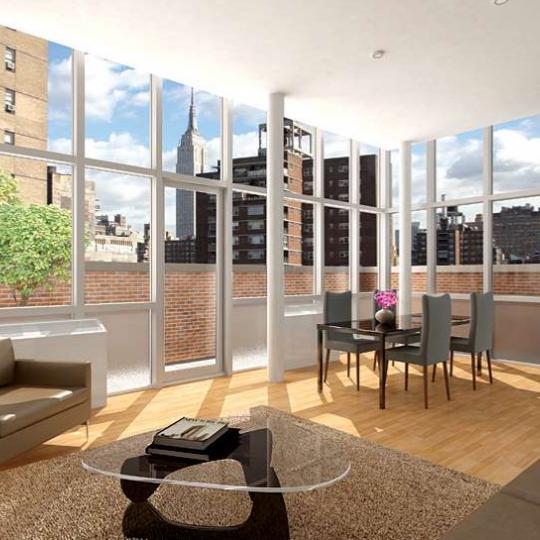 Loft 25 New Construction Building Living Room - NYC Condos