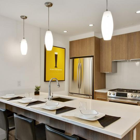 Open Kitchen at 42-83 Hunter Street in NYC - Condos for sale