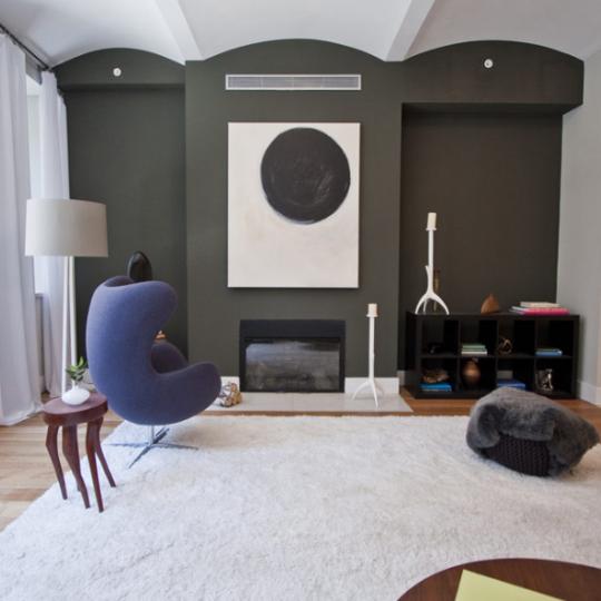 Living room at 42 Ann Street