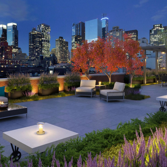 Roofdeck at 432 West 52nd Street