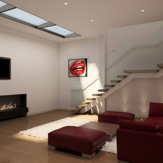 449 Washington Street - Living Room - Tribeca NYC Apartments For Rent