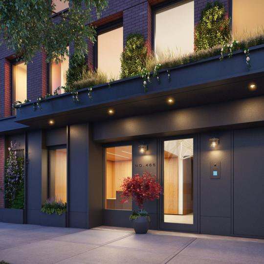 The Buliding's entry at 465 Pacific Street in NYC