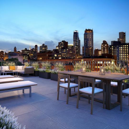 Stunning view from Rooftop Deck at 465 Pacific Street in Brooklyn