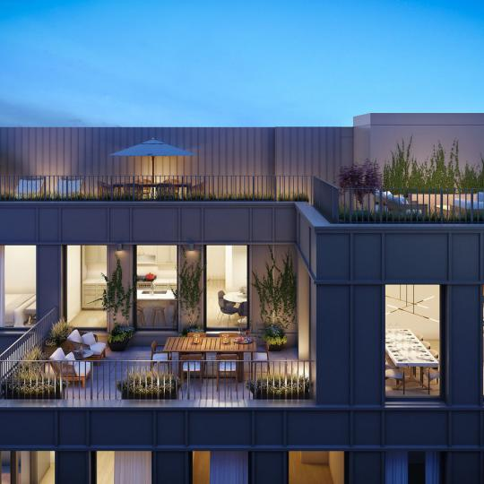 Private Terrace at 465 Pacific Street - Apartments for sale