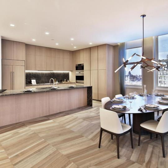 Open Kitchen at 49 Chambers Street in Tribeca - Condos for sale
