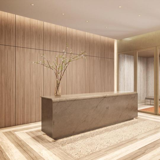 The Building's Lobby at 49 Chambers Street in NYC - Apartments for sale