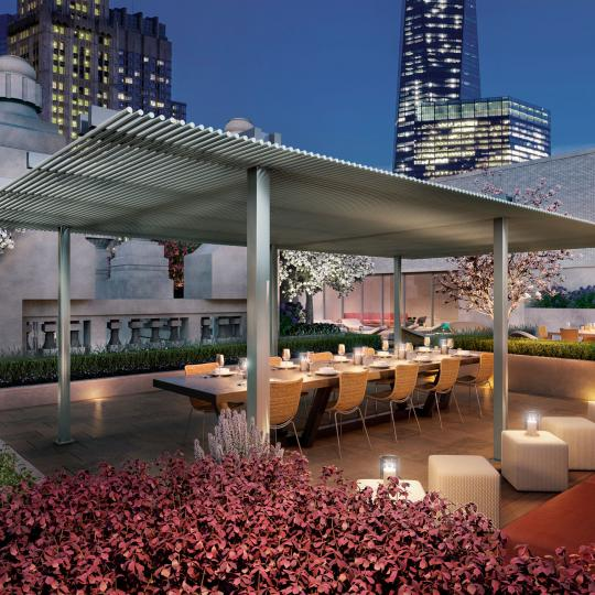 Condos for sale at 49 Chambers Street in NYC - Rooftop Terrace
