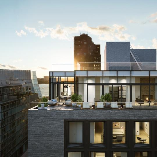 Private Terrace at 505 West 19th Street in NYC