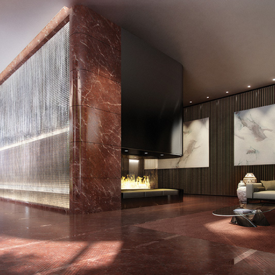 50 United Nations Plaza Condos NYC- Lobby. Condos for sale in Turtle Bay