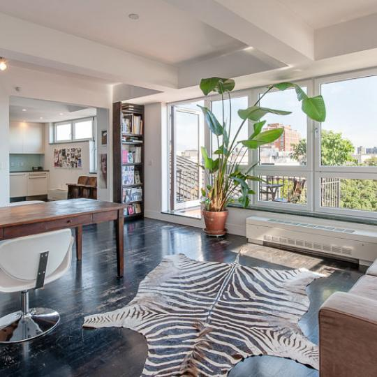 Living Room at 50 West in NYC - Condos for sale