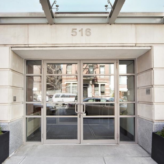 Building Entry at 516 West 47th Street in NYC
