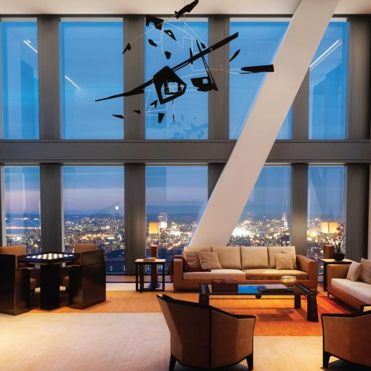 Living room at 53W53 in Manhattan - Condos for sale