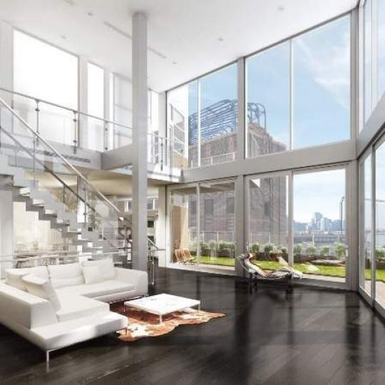 120 Eleventh Avenue Living Area - NYC Condos for Sale