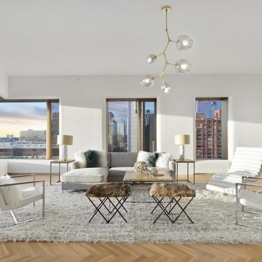 Livingroom at 551 West 21st Street in West Chelsea - Apartments for sale