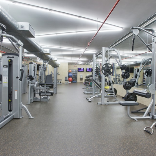 Wide variety of amenities at 555 West 23rd Street - Fitness