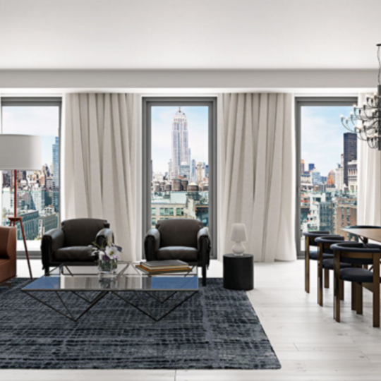 Livingroom at 55 West 17th Street in Flatiron District