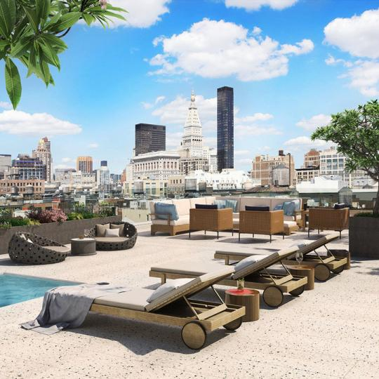 Open views from the Rooftop Deck at 55 West 17th Street