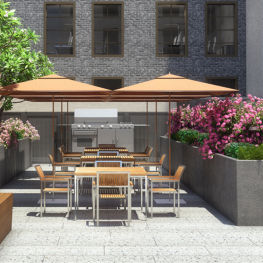 Rooftop Terrace at 55 West 17th Street in NYC