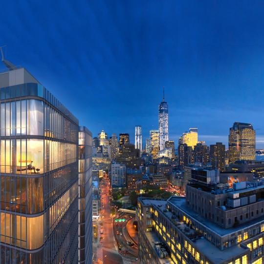Stunning views from 565 Broome Street in Soho