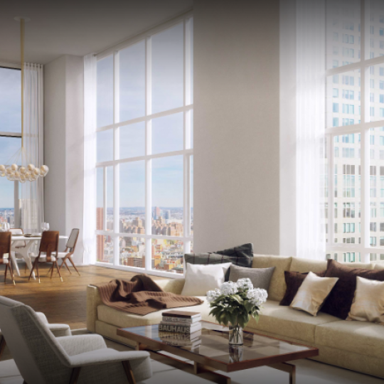 Penthouse Living Room at 5 Beekman Street