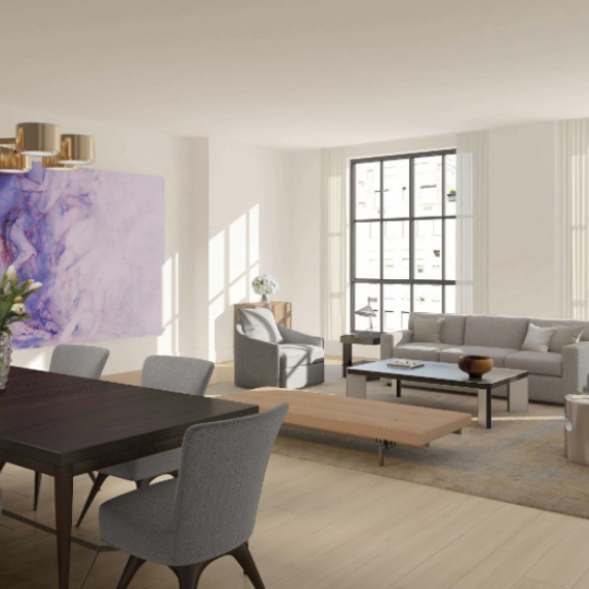 60 East 86th Street - 3rd to 9th floor Living room - Apartments for sale