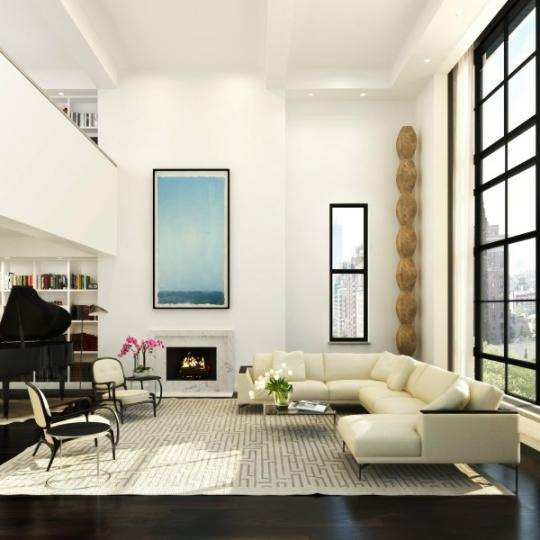 61 Fifth Avenue Living Room- Apartments for sale in Greenwich Village