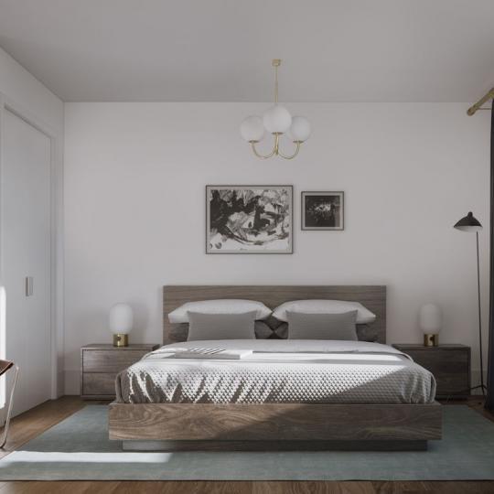 Bedroom at 62 Avenue B in Manhattan - Liberty Toye