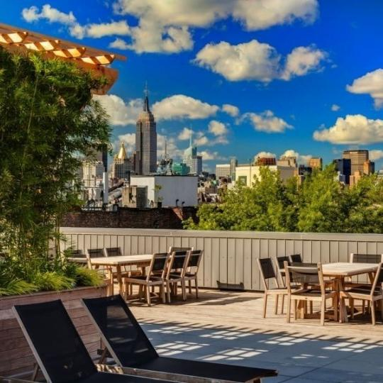 Rooftop Terrace at 62 Avenue B in East Village - Liberty Toye