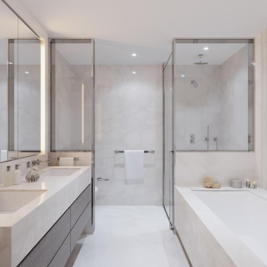 Bathroom at Three Waterline Square in Upper West Side - Condos for sale