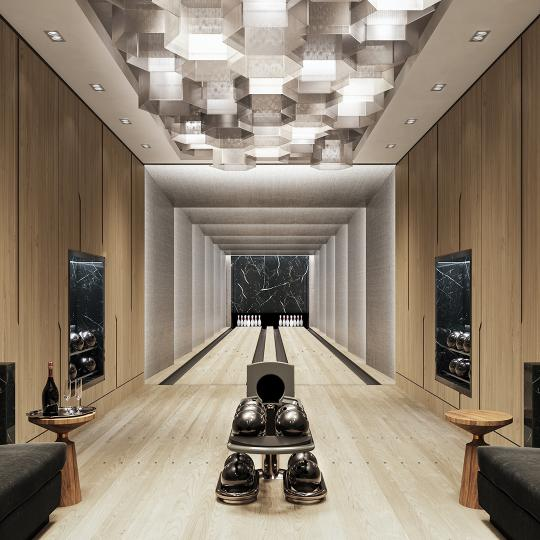 Bowling Suite at Three Waterline Square in Upper West Side