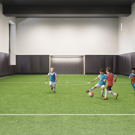 Soccer Field at Three Waterline Square in NYC - Apartments for sale