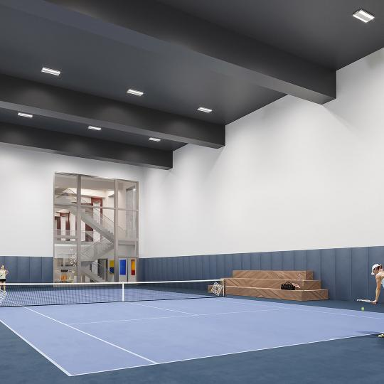 Condos for sale at 635 West 59th Street in Lincoln Square - Tennis Court