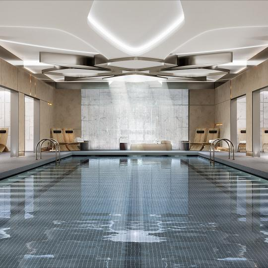 Pool at 635 West 59th Street in Lincoln Square - Apartments for sale