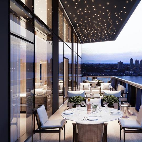 Terrace at Three Waterline Square in NYC - Apartments for sale